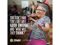 Zumba class Oasis School Lordshill Wednesdays 6.30pm