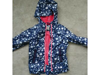 MICHAEL KORSBNWT Girls Navy/White Floral Lightweight Jacket Size 4T will fit 2-3 year Will post