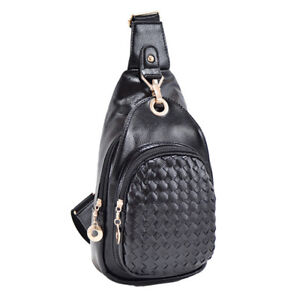 New Faux Leather Chest Bag Shoulder Crossbody Handbag wallet