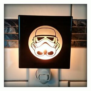 NEW STORM TROOPER Star Wars Etched Glass Wall Tile Nightlight