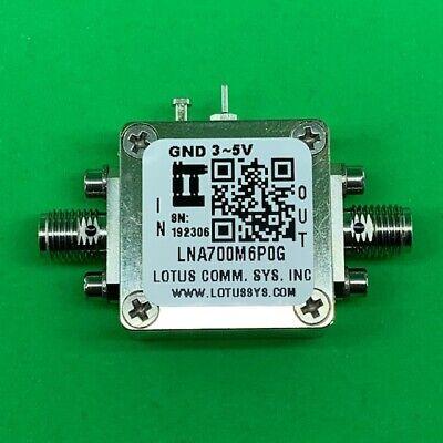 Broadband Ultra Low Noise Amplifier 0.4db Nf 0.76ghz 20db Gain 20dbm P1db Sma
