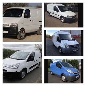 We buy vans for cash