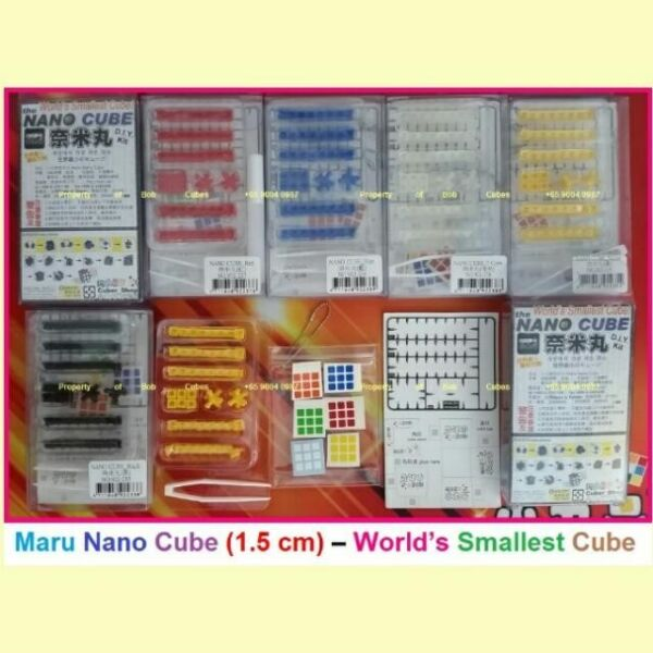 + Maru Nano Cube (1.5 cm) DIY - World's Smallest Rubiks Cube for sale