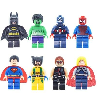 Lego Super Heroes minifigures Lot 8 Superheroes Batman LEGO Minifigure