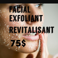 Facial, exfoliant, revitalisant
