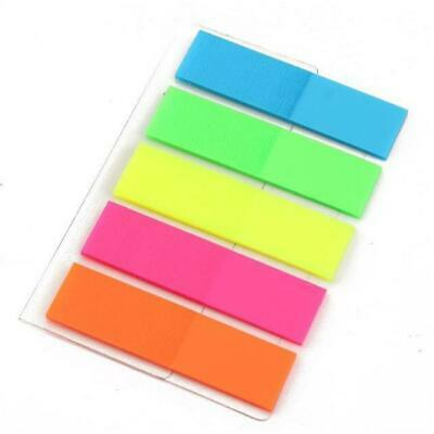 Pack Of 200 Sticky Highlighter Index Tabs Neon Page Marker Adhesive Bookmarker