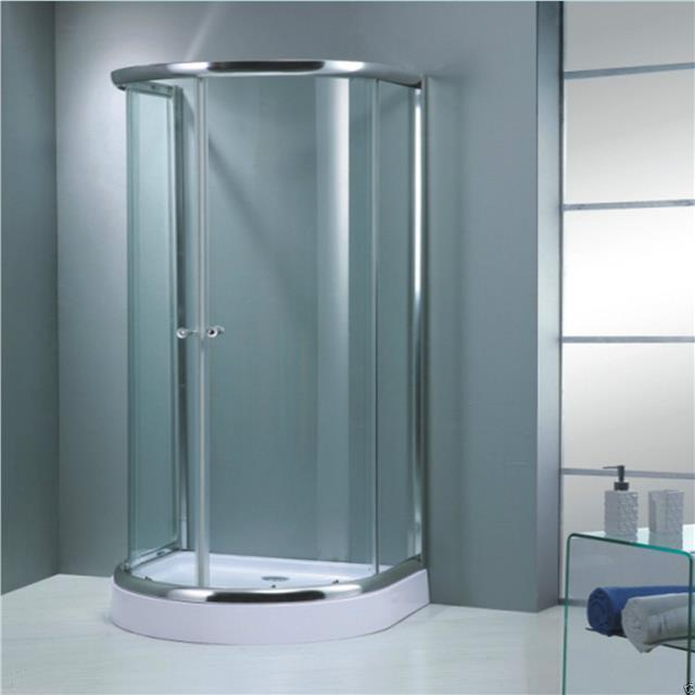 Corner D Shape Shower Enclosure Bathroom Tray Easy Plumb Door ...