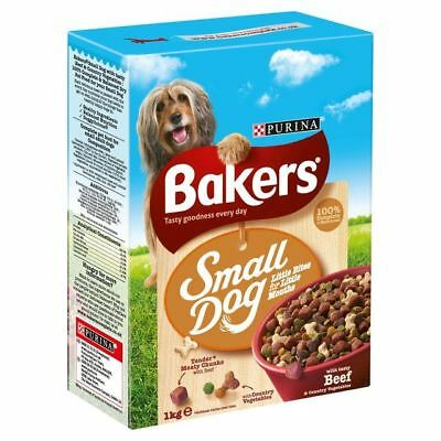 Bakers Small Dog Beef & Veg Dry Food 1kg