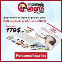 Impression 1000 Dépliants publicitaires 200M.