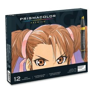 Prismacolor Art Markers Chinel Fine Manga 12-Color Set