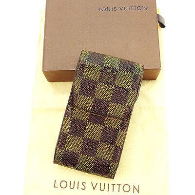 Auth Louis Vuitton cigarette case Damier Women