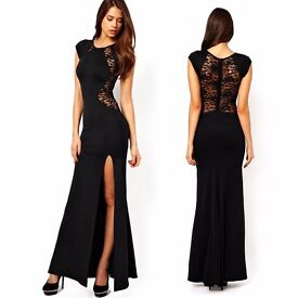 **BRAND NEW** Long lace black dress with tags