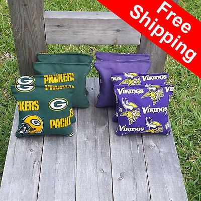 packers vikings cornhole bags top quality free