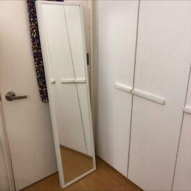 IKEA STAVEN White Wall Frame Mirror 140 x 60 cm