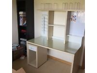 Ikea Cream Desk with shelves - local delivery available