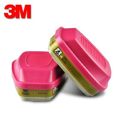 3M 60926 Multi Gas/Vapor P100 Replacement Respirator Cartridge/Fliter, 1 Pair