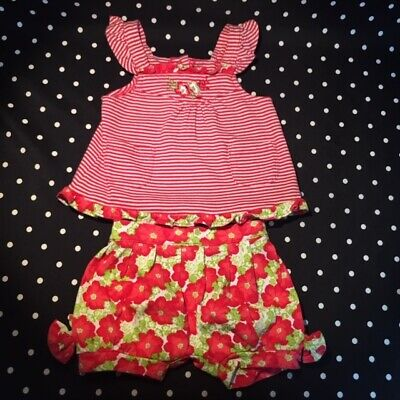 Le Top outfit set pants top bloomers 3 months  EUC