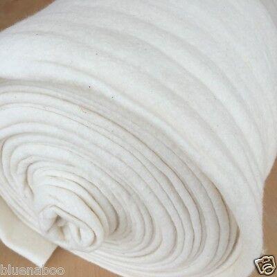 Katahdin 100% cotton quilters Batting Autumn weight natural  per half metre 90