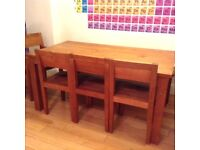 Solid Teak Dining Set - Seats Up to 8