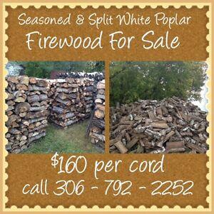 Seasoned & Split White Poplar Firewood For Sale !!!!!