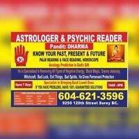 Psychic PANDIT DHARMA                            +1604 621 3596