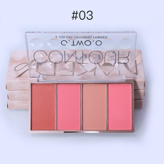 O. Two.o Make-Up Rouge Set Rötung Rosa Beige Pfirsich Orange Kontur Palette
