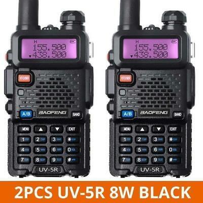 2 PCS Baofeng uv-5r 8W TRI-Power Band Radio Portable Two-Way radio