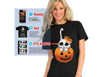 Digital Dudz Adorable KITTY EYES - T-Shirt - Large - NEW - Halloween - Party - Fancy Dress