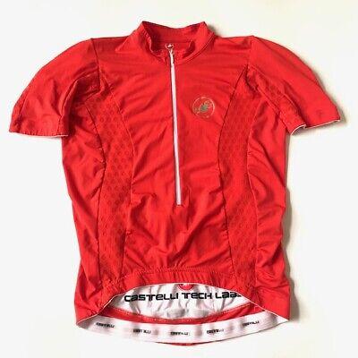 Castelli Bellissima Jersey Womens Small Orange Cycling New