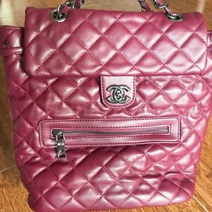 High quality replica Chanel backpack in burgundy Karawara South Perth Area Preview