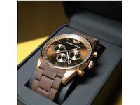 NEW EMPORIO ARMANI AR5890 ROSE GOLD CHRONOGRAPH WATCH