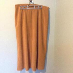 Beige Suede-like Skirt