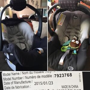 Chicco Keyfit360 carseat with base and carseat carrier