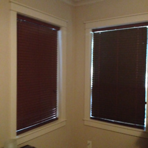 Faux wood chocolate blinds X 3!