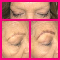 Microblading at Orange Lily Instagram - @beauty.by.brittany
