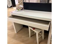 IKEA Malm Dressing table / console / sideboard White with drawer and glass top