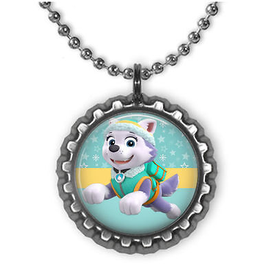 Paw Patrol EVEREST 3D Bottle Cap Necklace | Birthday | Christmas - Birthday Necklaces