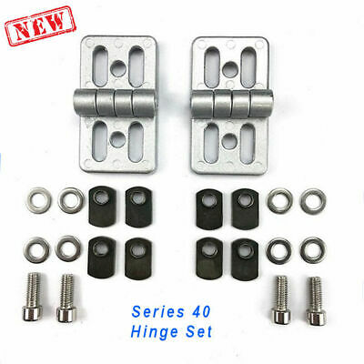 Heavy Duty Hinges 4040 4545 8020 Aluminum Profile Extrusion Accessory Set Of 2