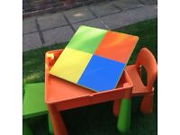 5 in 1 Activity Table Sand/Water/Draw/Lego/Storage