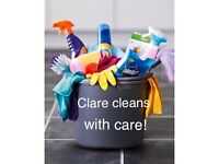 English domestic cleaner (£12ph - min 2 hrs)