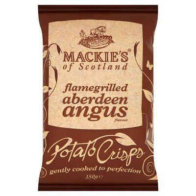 Mackie's Flamegrilled Aberdeen Angus crisps (24 x 40g)