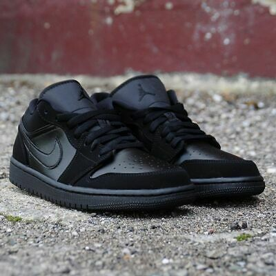 Air Jordan 1 Low Triple Black 553558-025 Basketball Shoes Men's Multi Size NEW