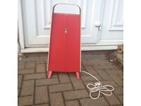 VINTAGE CREDA ELECTRIC HEATER RED FULLY WORKING REWIRED RETRO MID CENTURY
