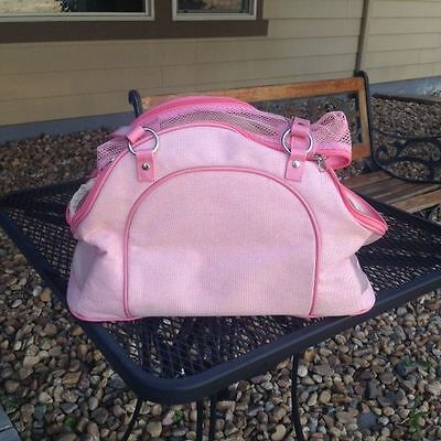 Dog/Cat/Pet/Carrier/Purse/Tote/Bag - Louis Dog Pink Double Puppy Purse - NEW