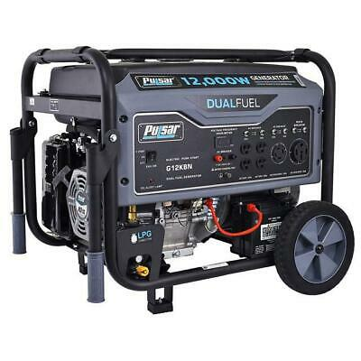 Pulsar 12000 Watt Portable Dual Fuel Propane/Gas Generator Electric Start -