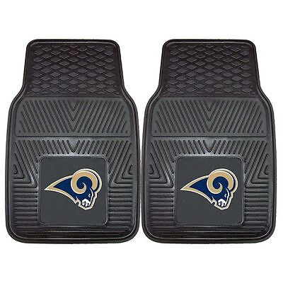 Fanmats NFL - St. Louis Rams Heavy Duty 2-Piece Vinyl Car Mats 18