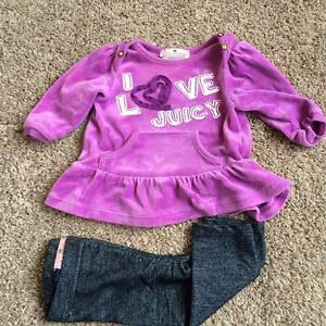 Girls 3-6 month Juicy Couture Outfit