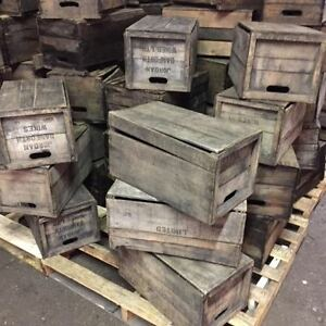 UNRESTRAINED GRAPE STAINED Winery Crates