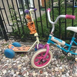 Bmx blue and pink bike w training wheels