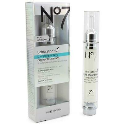 No7 Laboratories Line Correcting Booster Serum Reduces Wrinkles 0.5 OZ New